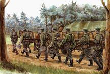 láminas II GM ejército alemán / láminas de diferentes dibujantes sobre   el ejército alemán en la II GM
