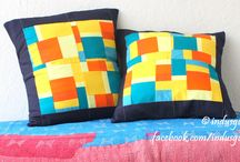 Indusgully patchwork pillows / Indusgully's 2014 summer collection