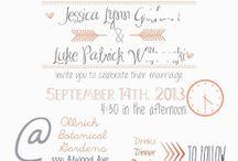 Wedding invite inspiration / by Jennifer Nichols
