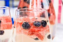 FOURTH OF JULY / Patriotic Fourth of July drinks, recipes, and decor ideas
