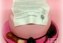 Bridal Shower Cake  / Bridal Shower Cake Una torta per un addio al nubilato ... un contratto simpatico ed autenticato con tanto di firma del notaio da firmare in compagnia delle amiche da parte della futura sposa!