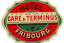 Vintage Hotels Labels