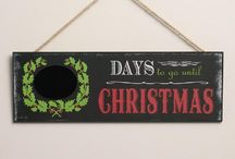 Chalkboard Art Christmas Decorations / A fun collection of Christmas chalkboard art decorations, signs and invitations.
