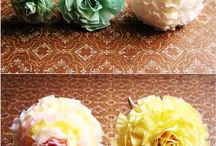 pom poms/ tissue paper flowers and more