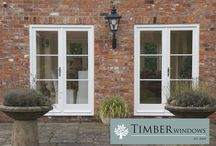 Front Door, Flush Casement Windows and French Doors / Case study from Timber Windows of Harewood which includes a Front Door, Flush Casement Windows and French Doors.