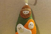 Felt Christmas / Filcowe ozdoby Boże Narodzenie / Table includes Christmas decorations made personally by me. Ornaments are made of felt. I would recommend :)  Tablica zawiera ozdoby świąteczne robione własnoręcznie przeze mnie. Ozdoby zrobione z filcu. Polecam :)