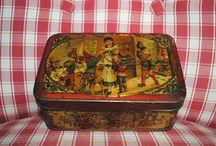 antique tin boxes
