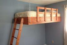 PAT SUSPENDAT - loft bed