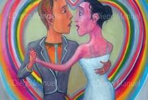 Tango / Diego Manuel | Artist Painter Sculptor. Abstract Art Surrealism  Pop  Realism  / by Diego Manuel