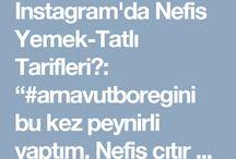 """Instagram'da Nefis Yemek-Tatlı Tarifleri: """"#arnavutboregini bu kez peynirli yaptım. Nefis çıtır çıtır oldu. Video da Pırasalı ve peynirli olmak üzere iki sunumu var. Denemenizi…"""""""