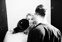 Behind the Scenes / Shots taken backstage or by industry pros on set.  Gage Models & Talent workplace
