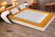 Bedsheet - King Size / Exclusive Cambric Cotton Bedsheets. Size - King, Designer King Size Double Bedsheet with 2 Pillow Covers