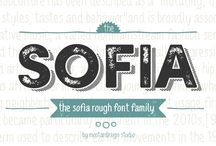 Sofia Rough Font family / Based on the popular Sofia Pro typeface, Sofia Rough is a multifaceted font family with differents eroded variations. More here :  http://myfonts.us/8uwAvF