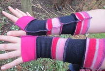 Armwarmers / These funky armwarmers can be worn inside and out, and are on of the Woolly pedlar's best selling items - a great gift for a friend or yourself, and for festival goers a must for those chilly party nights.
