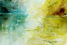 Landscape, watercolour / by Michèle Brown