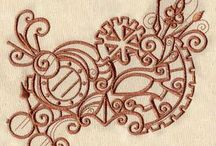 Steampunk embroidery