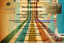 Music Time Warp Through the 70's, 80's & 90's / Party with a Purpose Productions  presents A Music Time Warp through The 70's, 80's and 90's SNACK DANCE FUNDRAISER When: Friday 28 November 2014 Time: 20H00 – 01H00 Where: Nico Malan Hall, Anzio Street, Observatory (Behind Groote Schuur Hospital) Price: R80 pre-sold, or R100 at the door  Tickets are Limited For event details and ticket sales contact events@partywithapurpose.co.za or call: Bronwyn on 072 591 2918 or Ursula on 082 787 6000 BYOB & Bring Your Own Platter