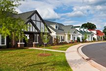Asbury at Arbor Acres / The charming Asbury neighborhood features no two homes alike. Tudor, Craftsman, French Country, Rustic and Colonial styles can be found in these free standing homes that include a range of floor plans and size.