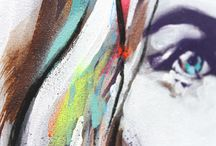 Contemporary Art Details / Contemporary artists and the beauty of detail of paint and other materials used - such as wood, animal skulls, gems, oil and acrylic colour etc.