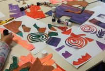 Student Work / Working as an art educator with primary children