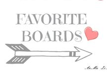 MY FAVORITE BOARDS / by AnMa ZiNe ❤❤❤