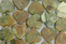 Rhyolite Rainforest Jasper Beads, Rhyolite Pendant Beads, Rhyolite Handmade Jewelry