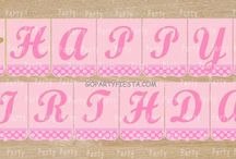 Pink Gold Glitter Birthday Party