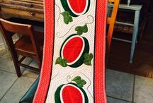 Summer Time / Summer Crafts, Sewing, quilts, Watermelons, wall hangings, table runners