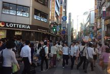 Tokyo streets / Full of shops, bars, restaurants and people! Streets in Tokyo are always busy!
