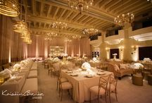 Vintage Inspired Wedding | KBE / Luxe Transformation – Moved by the couple's understated and effortless style, this design took inspiration from vintage Coco Chanel and Gucci, complemented by a polished James Bond sophistication and incorporating the groom's passion for clocks. A palette of textured white, cream, and champagne set the stage for the celebration, utilizing brushed gold accents – a marriage of hard and soft, masculine and feminine.