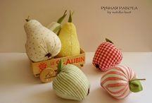 frutas de tecido e feltro