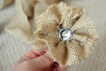 Burlap and Fabric Flowers / by Lora Drum