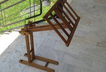 diy laptop&book holder / wooden holder