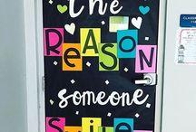 School inspirational wall