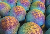 bath bombs and soap