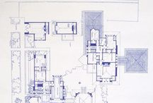 Frank Lloyd Wright drawings and plans