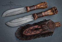 Interessante kniver,økser og andre verktøy