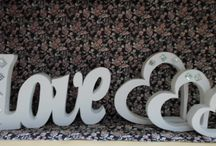 Letras Decorativas / Letras Decorativas para diversas ocasioes, casamento,aniversário,batizados, ou simplesmente para decoração de ambientes.