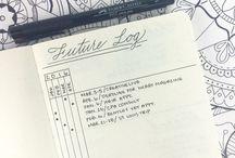 Bullet journal. / Bullet journal ideas, spreads, love.