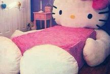 Hello kitty bedding / by Kitty White