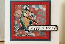 Tim Holtz Crazy Birds / Cards made using Tim Holtz Crazy Birds stamps
