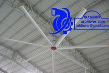 Xianrun Industrial HVLS Ceiling Fan / Xianrun Blower HVLS Ceiling Fan, (High Volume, Low Speed), large air volume, low speed rotation (below 100 r/min), large size, frequency conversion fan