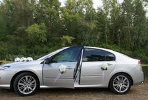 Samochód ślubny, Car white decorations