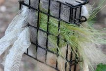 Offer Nesting Materials / Ideas and suggestions for offering nest building materials to nesting birds in your yard.