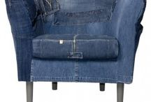 Denim stoel