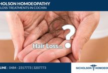 Hair fall treatments in cochin & thrissur /   Nicholson Homoeopathy brings together the reliability and experience of a branch of medical treatment which has universal acclaim