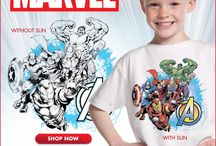 Marvel by Del Sol / Del Sol-Marvel clothing and accessories that change colors with sunlight.