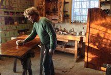 Eindrücke aus unserer Restaurierungswerkstatt in Brügge /  Impressions from our restoration workshop in Brügge