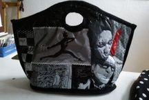 tassen /  eigen ontwerpen tassen van afval plastic tassen gemaakt door atelier de vingerhoed in ede.
