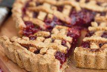 Jam tart with Italian pastry / Sweet